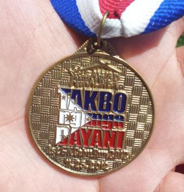 gawas kalinga cebu run 2012 medal