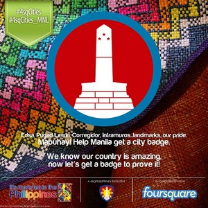 foursquare city badge manila