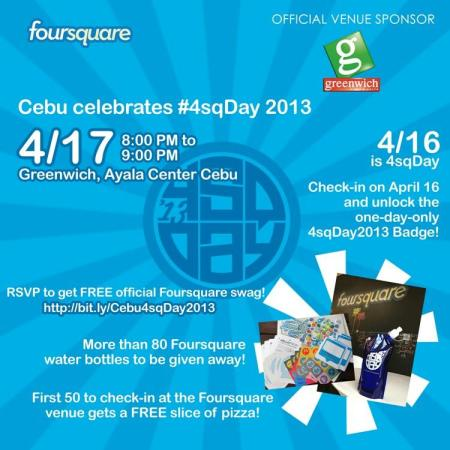 cebu foursquare day 2013